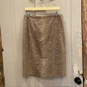 3/15 W by Worth skirt snakeskin fabric